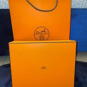 Authentic Hermès Oran sandals in the color Tan